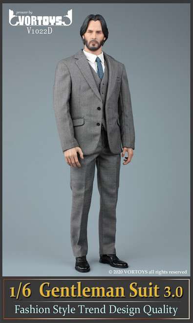 [VOR-1022D] 1/6 Gray Gentleman Suit 3.0 by VORTOYS