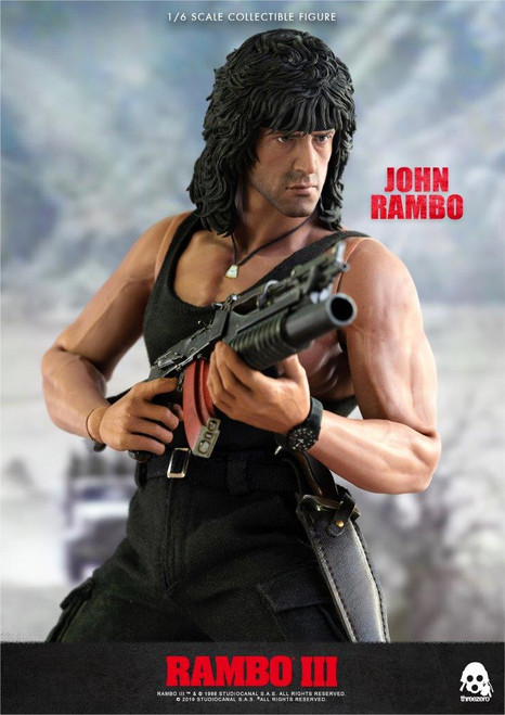 [3A-3Z0169] 3A threeA John Rambo III Sylvester Stallone 1/6 Collectible Figure