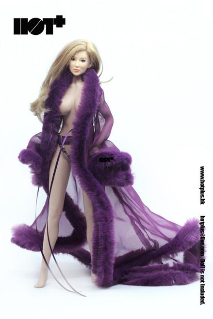 [HP-060D] Hot Plus Female Purple Lingerie Gown Set 1/6 Girl Figures