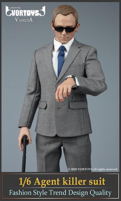 [VOR-1023A] Vor Toys 1/6 Male Agent Suit Gray