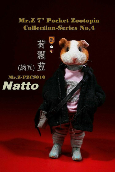"Mr.Z Pocket Zootopia 7"" Natto Figure Series 4 [MRZ-PZCS010]"