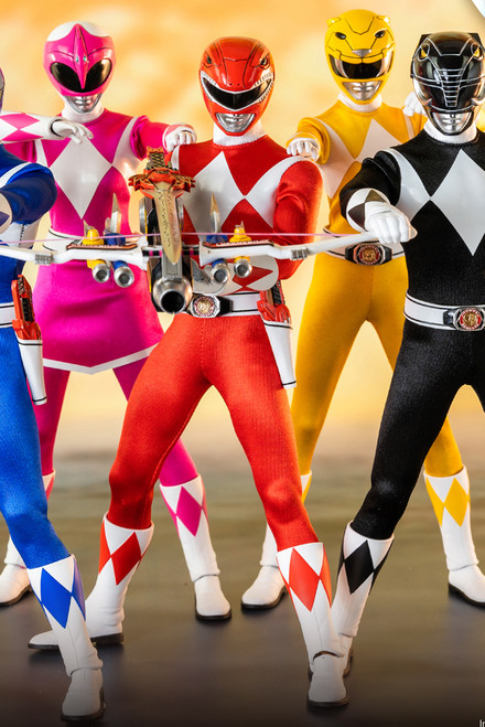 threeA Zero Mighty Morphin Power Rangers Core Six-Pack 1/6 Figure [3A-3Z0310]