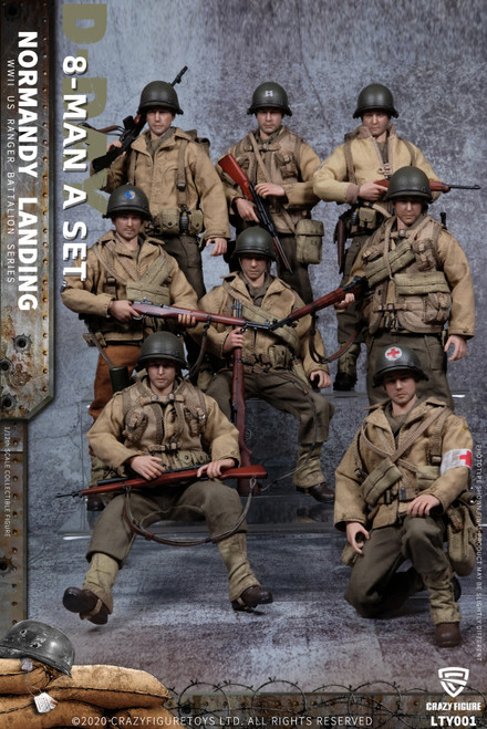 1:12 Crazy Figure WWII U.S. Army On D-Day Deluxe Edition [CF-LTY001]