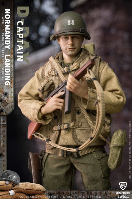 CrazyFigure 1/12 WWII U.S. Rangers On D-Day Captain [CF-LW011]