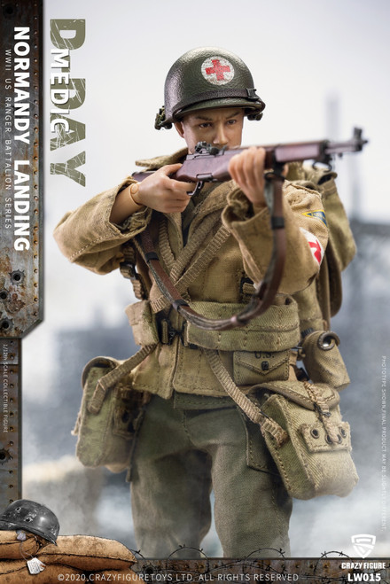 CrazyFigure 1/12 WWII U.S. Rangers On D-Day Machine Medic [CF-LW015]