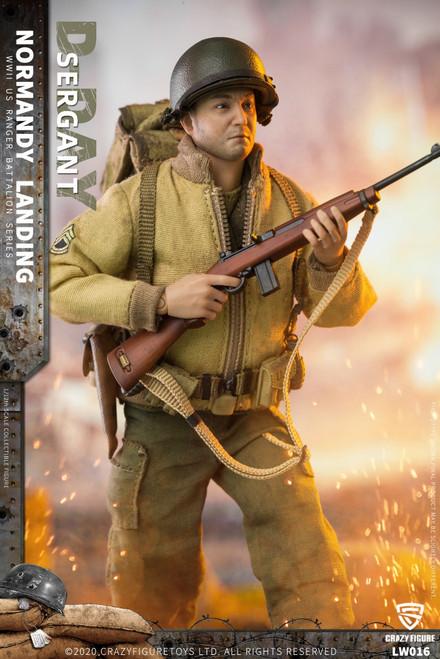 CrazyFigure 1/12 WWII U.S. Rangers On D-Day Machine Sergant [CF-LW016]