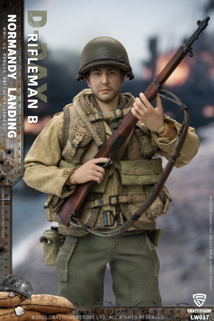 CrazyFigure 1/12 WWII U.S. Rangers On D-Day Rifleman B [CF-LW017]