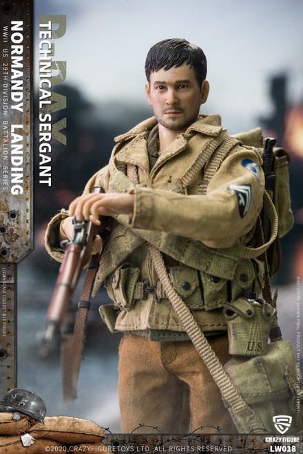 CrazyFigure 1/12 WWII U.S. 29th division D-Day Technical Sergant [CF-LW018]