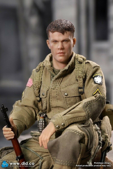 "1/12 Ryan WWII US Army Soldier 101st Airborne Division 6""Male Figure [DiD- XA80001]"
