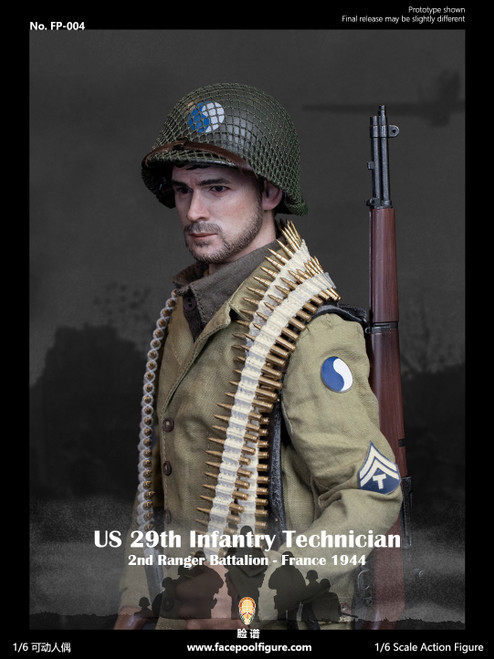 Facepoolfigure 1:6 US 29th Infantry Technician France 1944 [FP-004A]