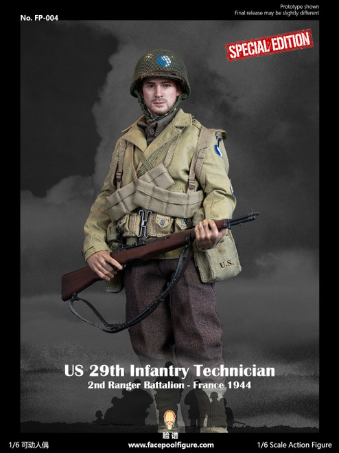Facepoolfigure 1:6 US 29th Infantry Technician France 1944 Special Edition [FP-004B]