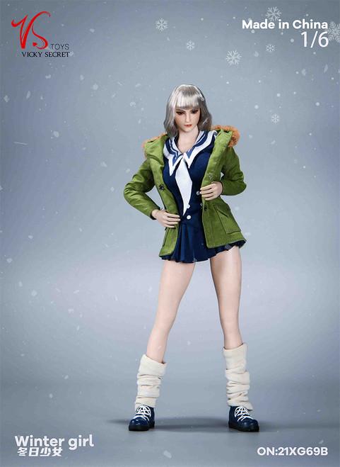 VS Toys 1/6  Winter Girl with Green Jacket [VST-19XG69B]