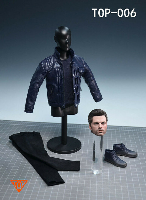 Custom Winter Soldier Head & Clothing Set for 1/6 Figures [TOP-006]