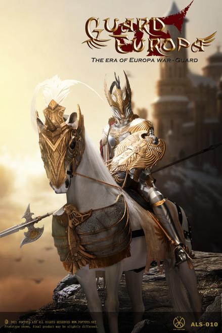 POP Toys 1/6 Eagle Knight Guard Silver Armor Horse [POP-ALS012]