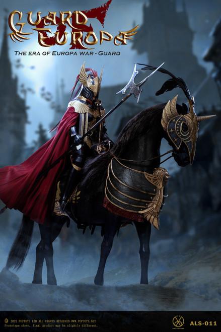 POP Toys 1/6 Eagle Knight Guard Black Armor Horse [POP-ALS013]