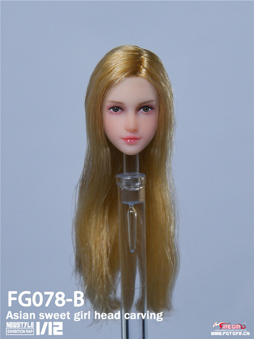 1:12 Fire Girl Toys Asian Sweet Girl Gold Head Carving [FG-078B]