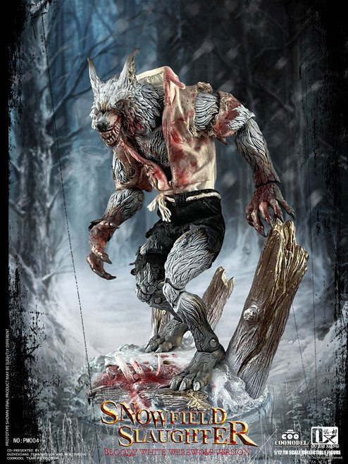 COO Model 1/12 Palmtop Monsters Snowfield Slaughter Bloody White Werewolf Deluxe Version [CM-PM004]