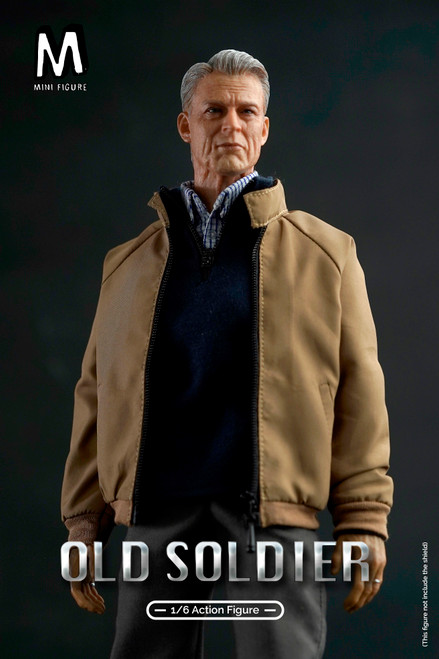 [MIN-002D] 1/6 Old Man Action Figure With Bench by MINI FIGURE