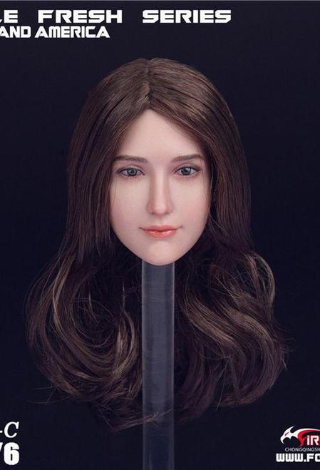 Fire Girl Toys 1/6 European American Head Sculpture [FG-066C]