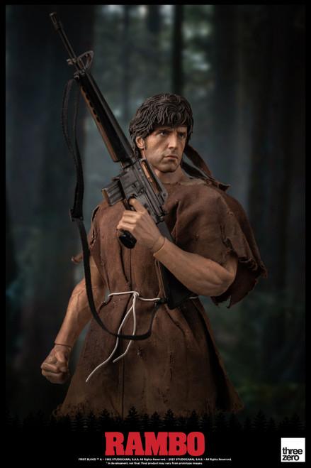 "ThreeZero Rambo First Blood John 12""Action Figure [3Z02880W0]"