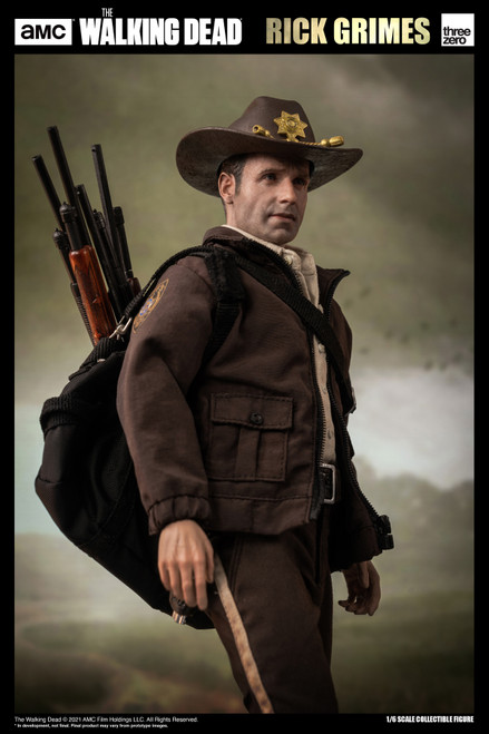 "ThreeZero 12"" The Walking Dead Rick Grimes Season 1 Figure [3Z01450W0]"