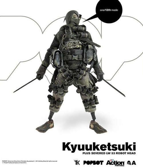THREEA Action Portable Baka TK Kyuuketsuki With Severed LW 53 Bot Head (3A-STK-KYUU)