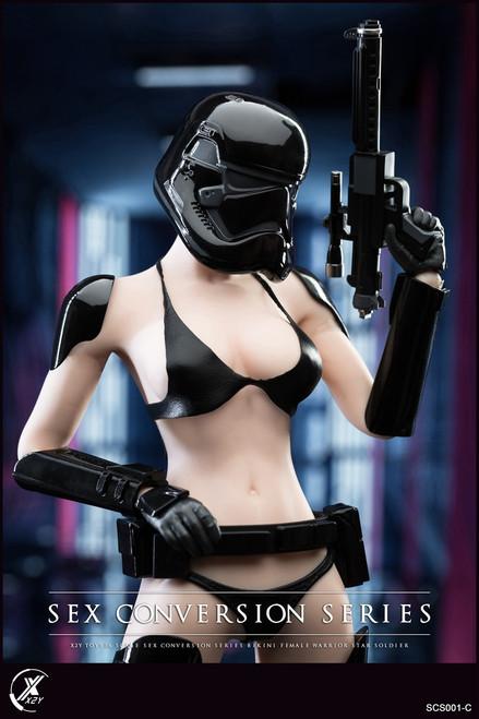 X2Y TOYS 1:6 Black Bikini Female Warrior Star Soldier Conversion Set [X2Y-SCS001C]