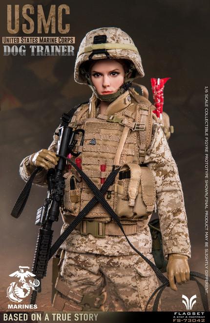 FLAGSET 1/6 US Military Dog Trainer Female Figure [FS-73042]