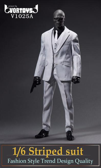 Vor Toys 1/6 Black Striped Suit Figure Accessories [VOR-1025A]