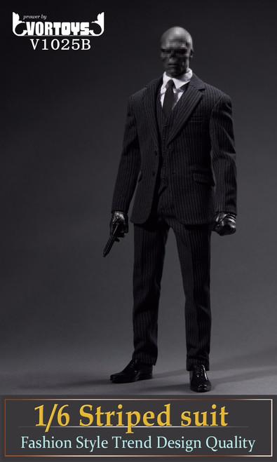 Vor Toys 1/6 Black Striped Suit Figure Accessories [VOR-1025B]