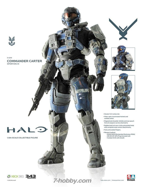 "3A threea HALO - Commander Carter ""Spartan III"" (3A-HALO-CC)"