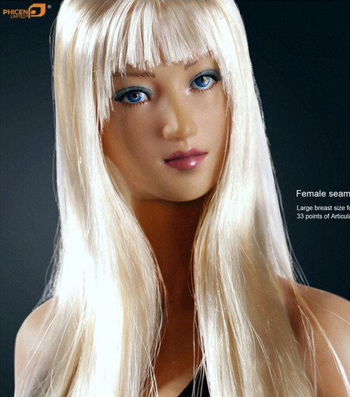 PHICEN LIMITED – Female Head with Long Blonde Hair (PL-LB2013-13H)