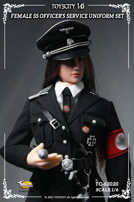 [TC-62020] TOYS CITY 1/6 Female SS Officer's Service Uniform Set in Black