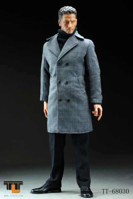 [TTL-68030] TTL Man Wearing Long Suit- Light Grey
