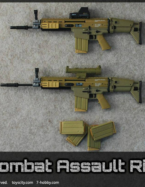[TC-62014A] TOYSCITY 1/6 SOF Combat Assault Rifle Set in Tan Color