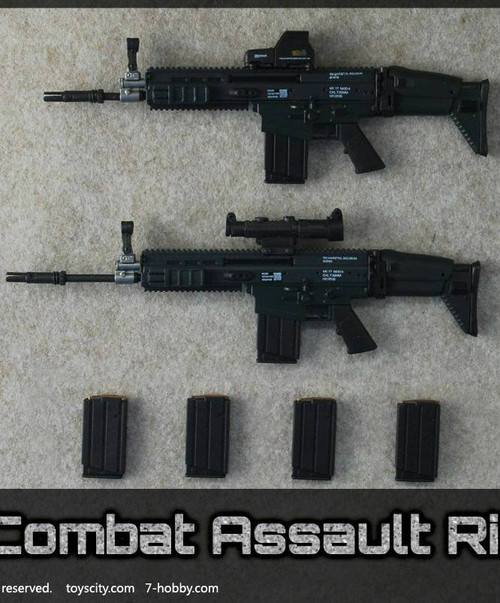 [TC-62014B] TOYSCITY 1/6 SOF Combat Assault Rifle Set in Black Color