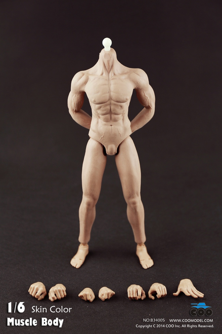 [CM-B34005] COO Model Rubber Muscular Male Body