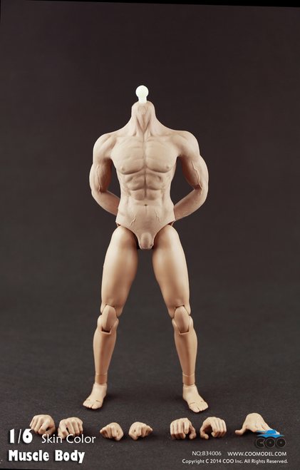 [CM-B34006] COO Model Hybrid Rubber Muscular Male Body