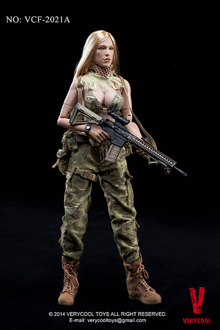 [VCF-2021A] Very Cool Female Shooter CP Camouflage Action Figure Boxed Set