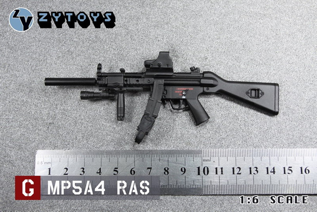"""[ZY-8042G] ZY Toys MP5 A4 RAS for 12"""" Tall Action Figures"""