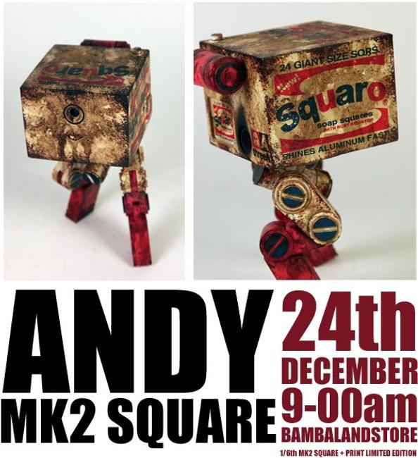 [3A-ANDY] THREEA Ashley Wood WWR Andy The MK2 Square Squaro Brillo