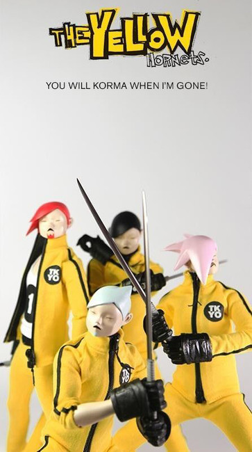 [3A-HORNETS] 3A THREEA Popbot Yellow Hornet 1/6th 4 Figure Set Ashley Wood Design