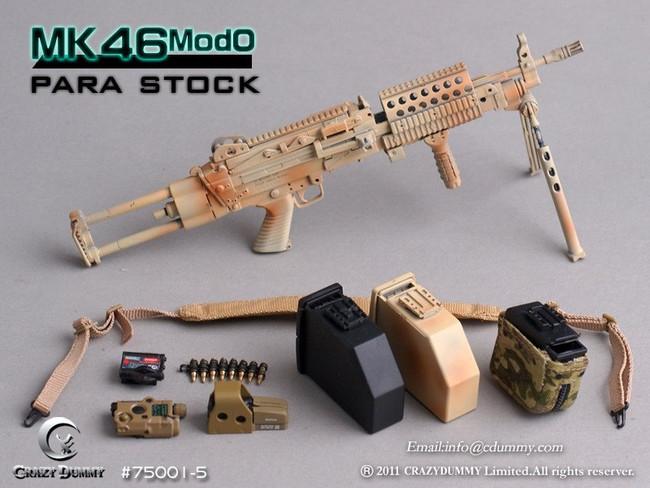[CD-75001-5] CRAZY DUMMY 1/6 MK46 MOD0 Para Stock - Camouflage
