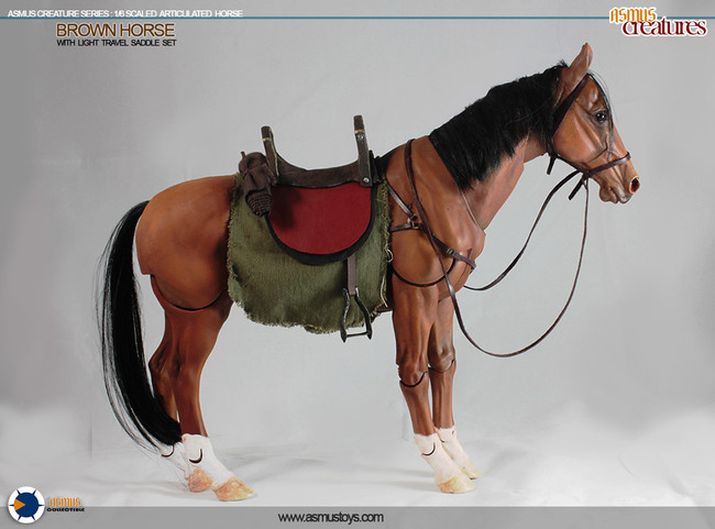 [ASM-CRE002] Asmus Toys 1:6 Scale Articulated Brown Horse
