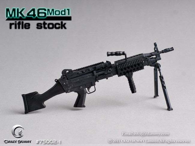 CRAZY DUMMY 1/6 MK46 MOD1 Rifle Stock - Black
