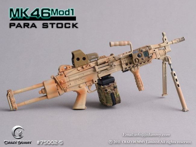 CRAZY DUMMY 1/6 MK46 MOD1 Para Stock - Camouflage (CD-75002-5)