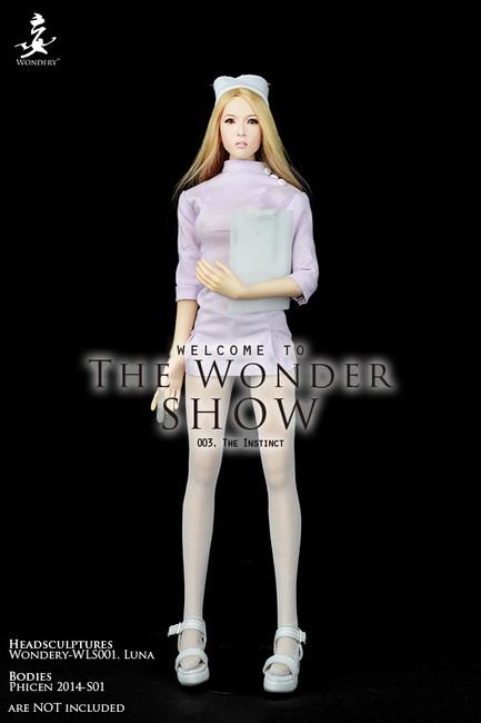 "[WLS-TWS003B] Wonder Show 003 ""The Instinct"" 1/6 Nurse Female Figure Costume in Pink by Wondery"
