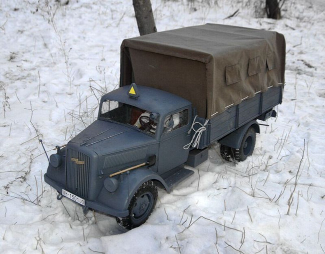 [TM-1505] Toy Model 1:6 Scale Metal Opel Blitz Track in Panzer Gray