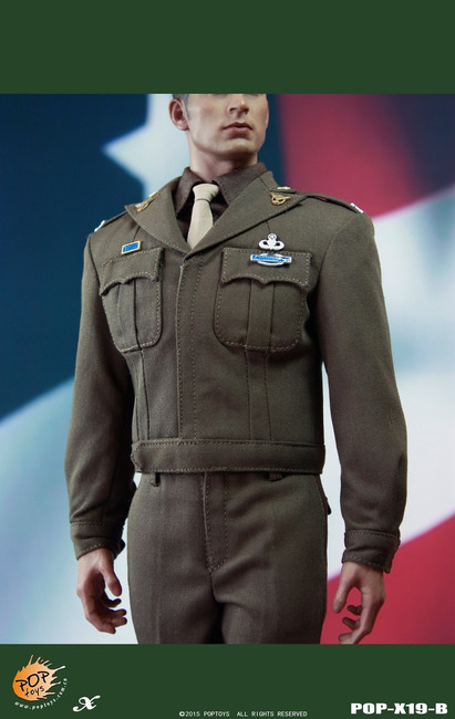 [POP-X19B] POP Toys WWII US Army Officer Uniform Set B in 1:6 Scale