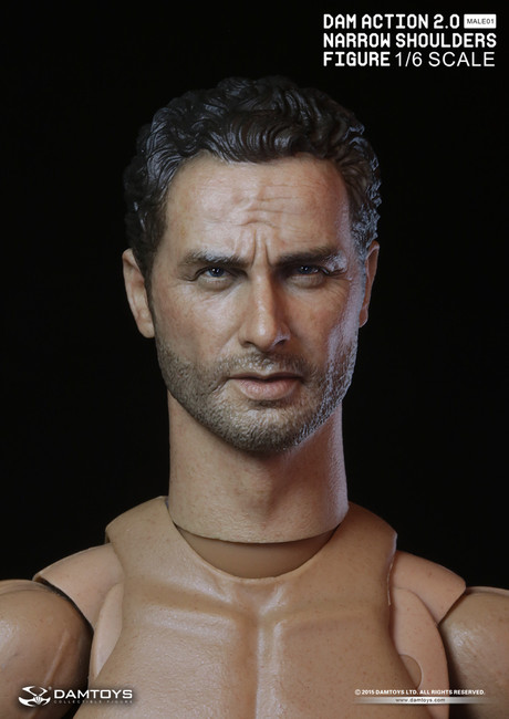 [DAM-MB01] DAM TOYS Action 2.0 Narrow Shoulders Body with Caucasian Head